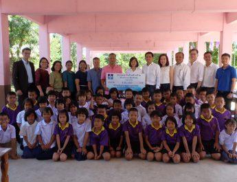 สมาคมธุรกิจรับสร้างบ้าน มอบเงินบริจาคช่วยฟื้นฟูโรงเรียนบ้านดอนตะลี  จ.อุบลราชธานี หลังน้ำลด