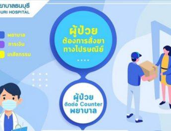 โรงพยาบาลธนบุรี บริการจัดส่งยาทางไปรษณีย์ ลดเสี่ยงโควิด-19