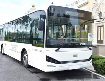 รถโดยสารไฟฟ้าต้นแบบ จากโครงการพัฒนารถโดยสารประจำทางใช้แล้ว
